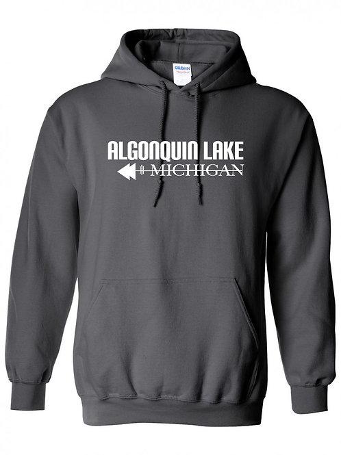 Algonquin Lake White Logo Hoodie
