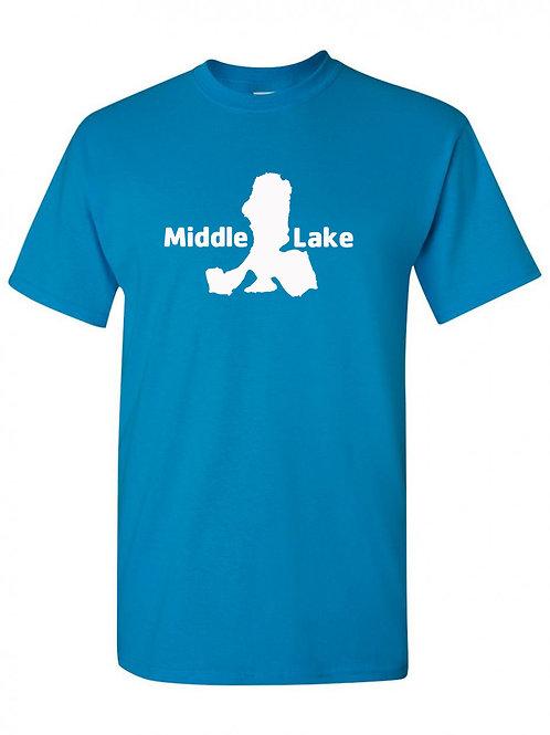 Middle Lake White Logo T-Shirt