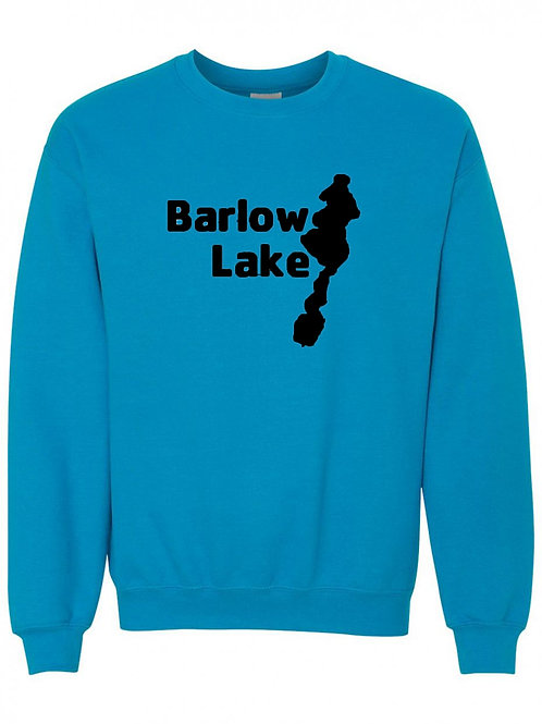 Barlow Lake Black Logo Crewneck