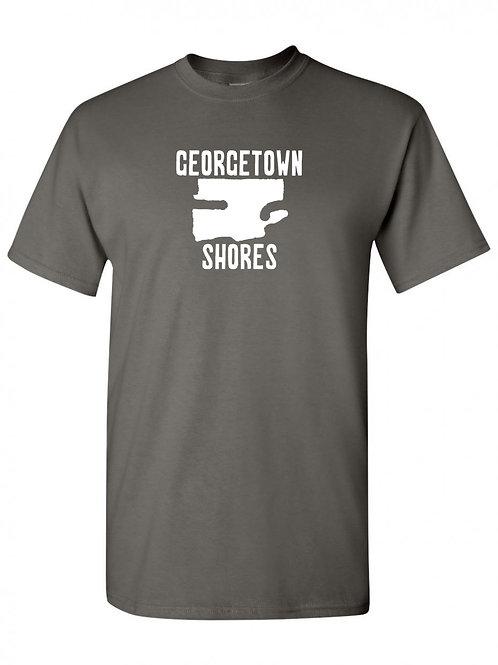 Georgetown Shores White Logo T-Shirt