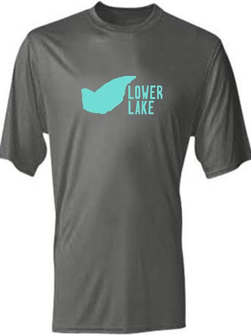 Lower Lake Teal Logo Sun Tee