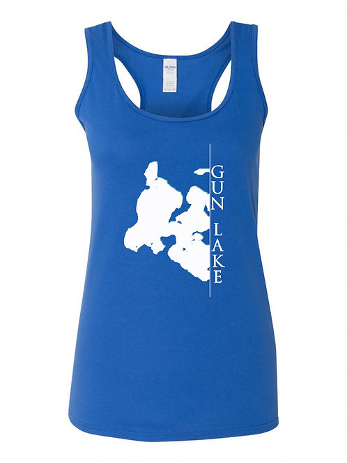 Gun Lake White Line Ladies Tank Top