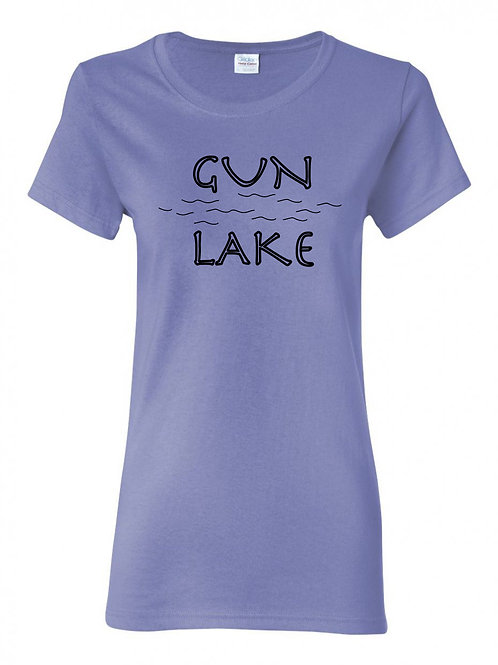 Gun Lake Black Wave Ladies T-Shirt