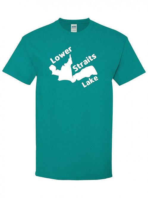 Lower Straits Lake White Logo T-Shirt