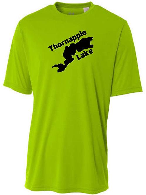 Thornapple Lake Black Logo Sun Tee