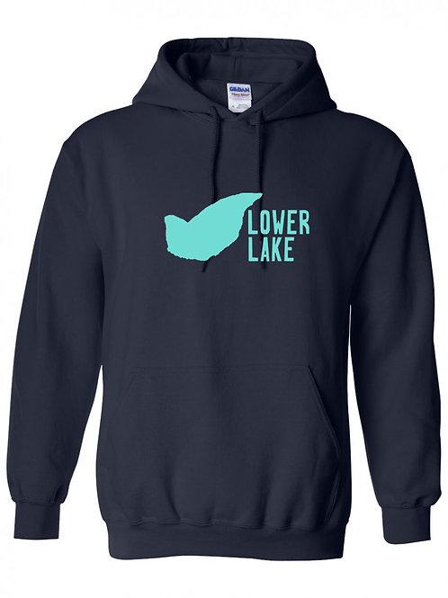 Lower Lake Teal Logo Hoodie