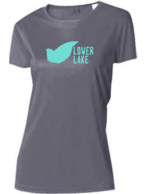 Lower Lake Teal Logo Women's Sun Tee