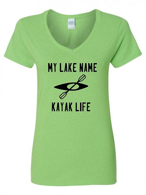 My Lake Kayak Life V-Neck