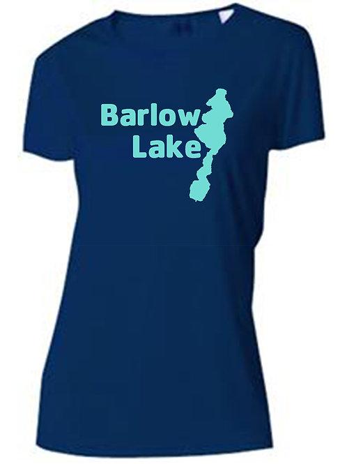 Teal Barlow Lake Logo Women's Sun Tee