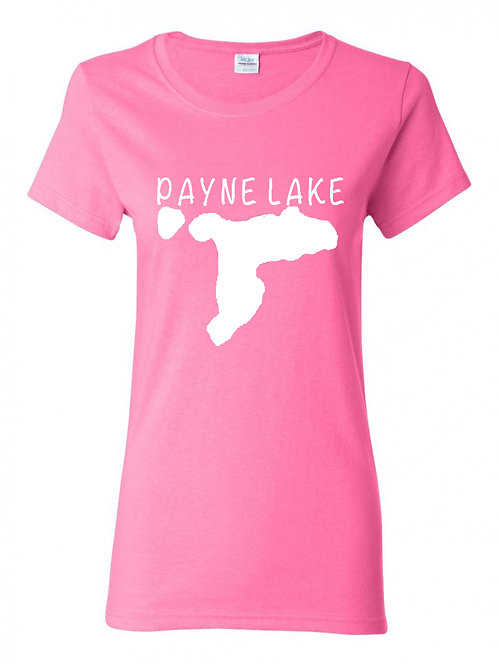 Payne Lake White Logo Ladies T-Shirt