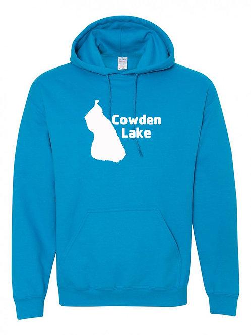Cowden Lake White Logo Hoodie