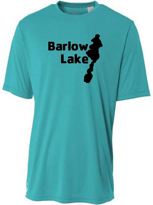 Barlow Lake Black logo Sun Tee