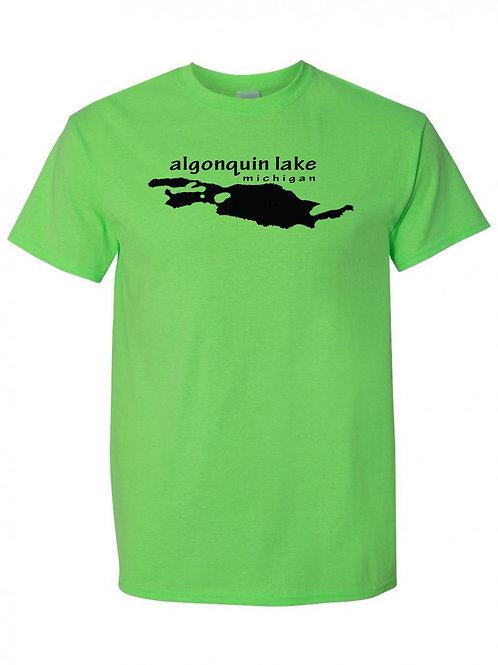 Algonquin Lake Black Logo T-Shirt