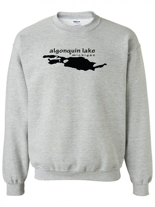 Algonquin Lake Black Logo Youth Crewneck