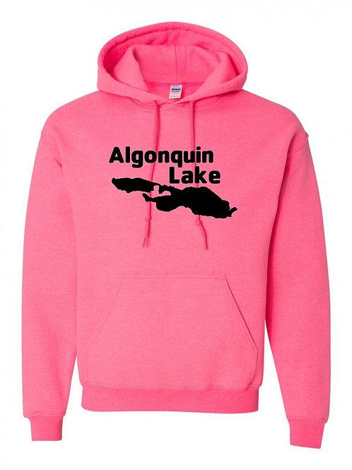 Algonquin Lake Black Logo Hoodie
