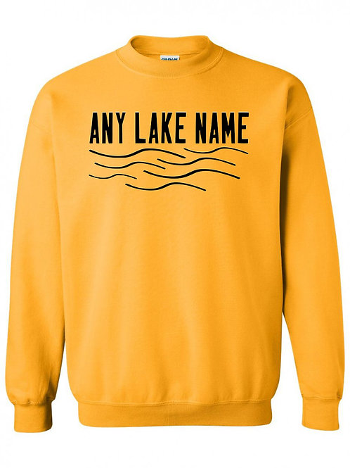 Any Lake Wave Logo Crewneck