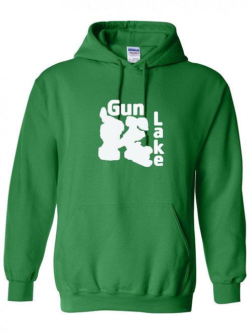 Gun Lake White Logo Hoodie