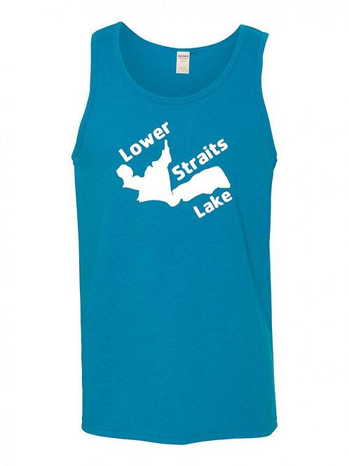 Lower Straits Lake White Logo Tank Top