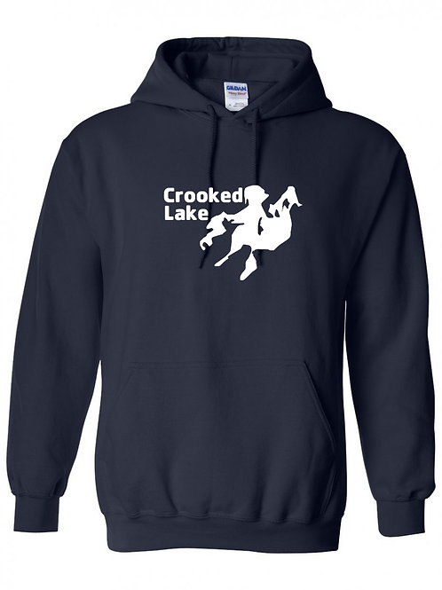 Crooked Lake White logo Hoodie