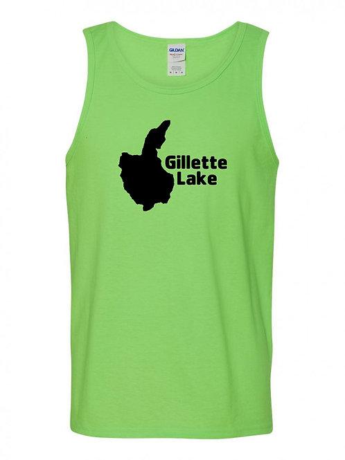 Gilletts Lake Black Logo Tank Top