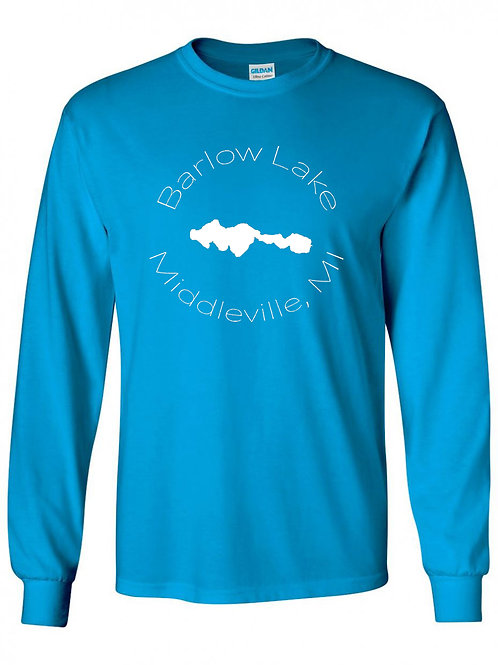 Barlow Lake White Circle Long Sleeve T-Shirt
