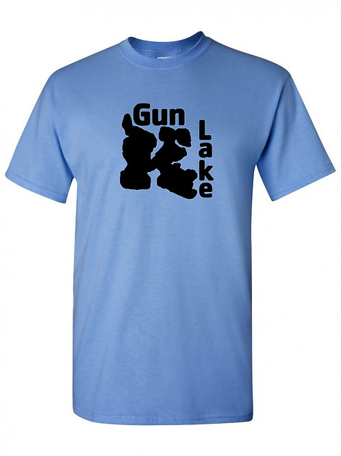 Gun Lake Black Logo T-Shirt
