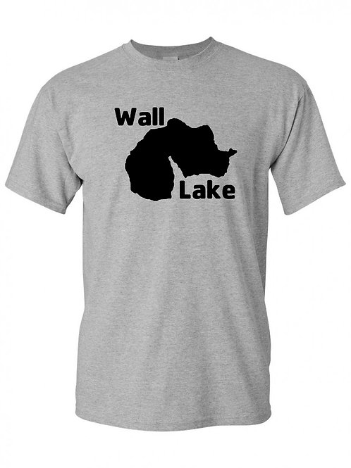 Wall Lake Black logo T-Shirt