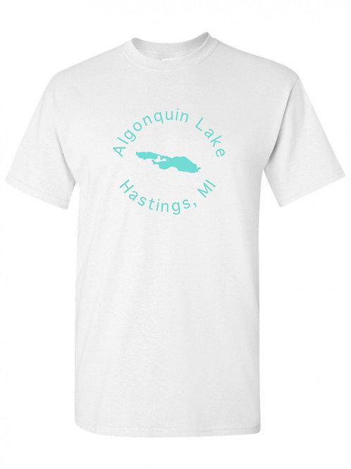 Algonquin Lake Teal Circle T-Shirt