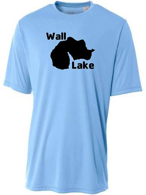 Wall Lake Black Logo Sun Tee