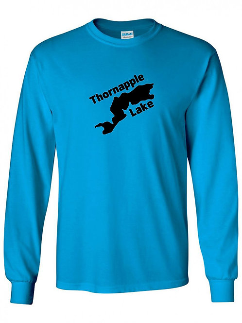 Thornapple Lake Black Logo Long Sleeve