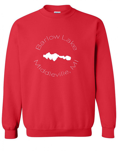 Barlow Lake White Circle Crewneck