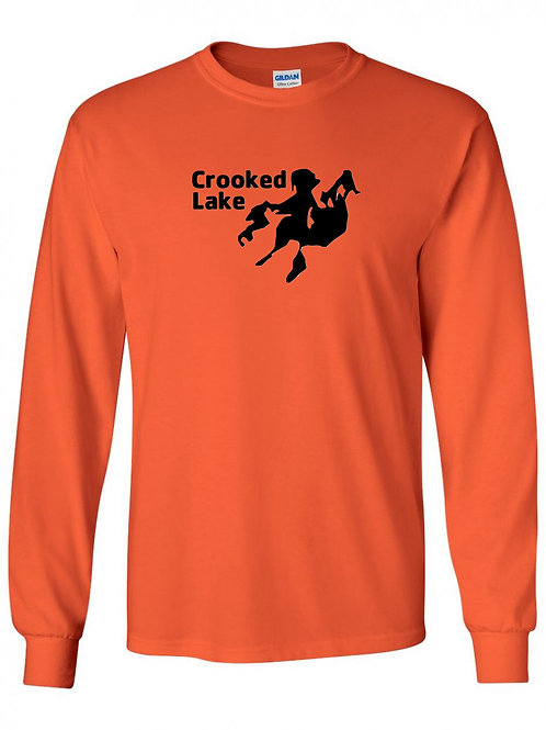 Crooked Lake Black Logo Long Sleeve