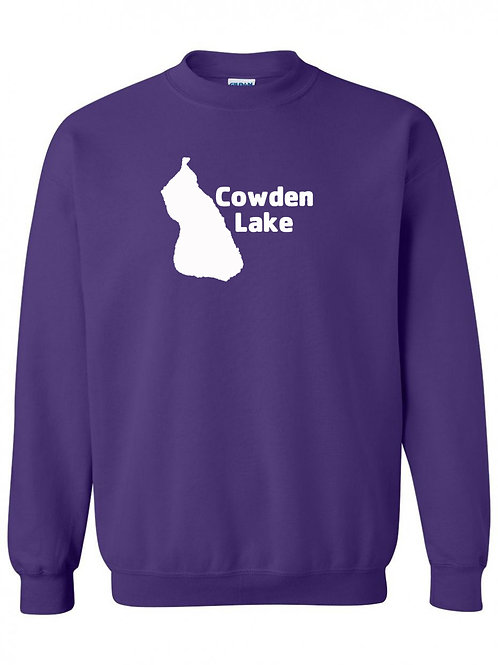 Cowden Lake White Logo Crewneck