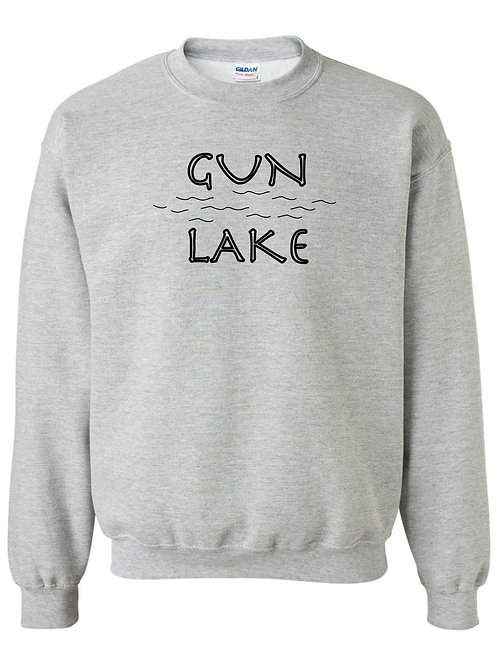 Gun Lake Black Wave Youth Crewneck