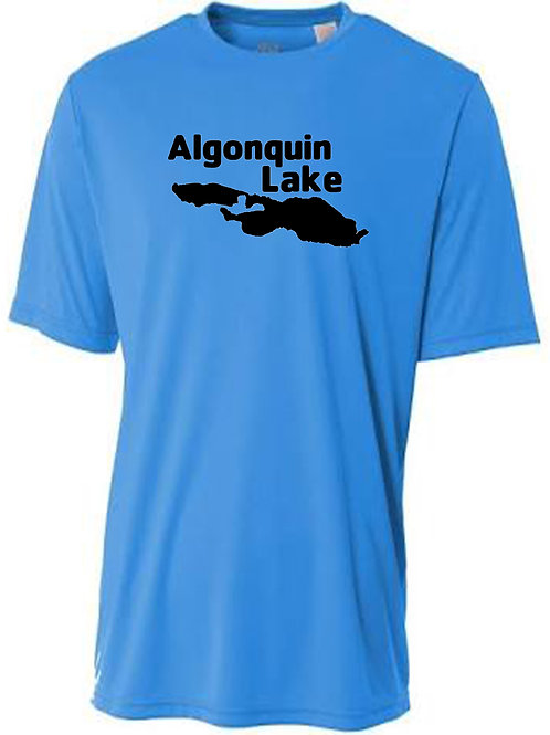 Algonquin Lake Black logo Sun Tee