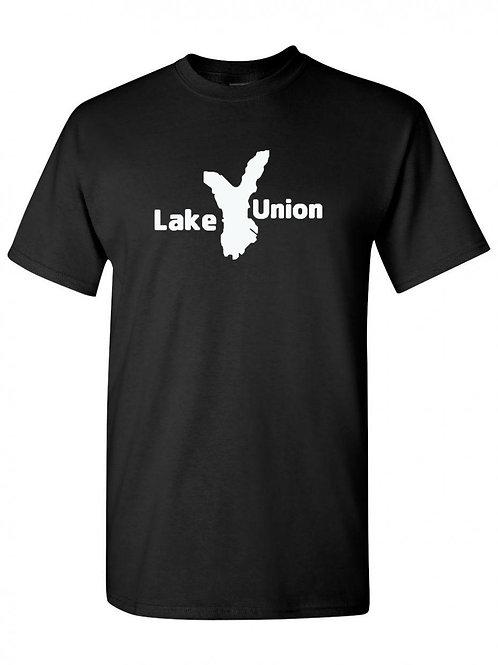 Lake Union White Logo T-Shirt
