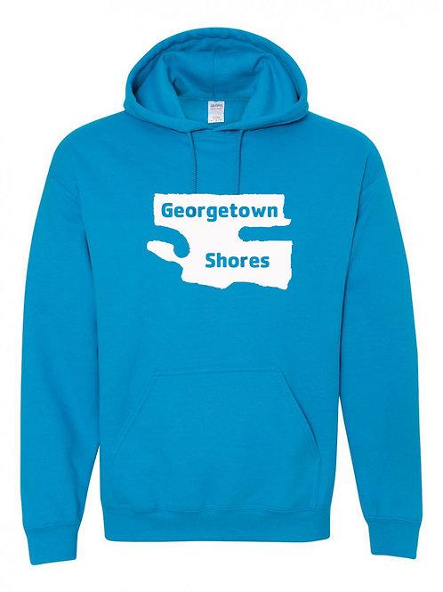 Georgetown Shores White Logo Hoodie