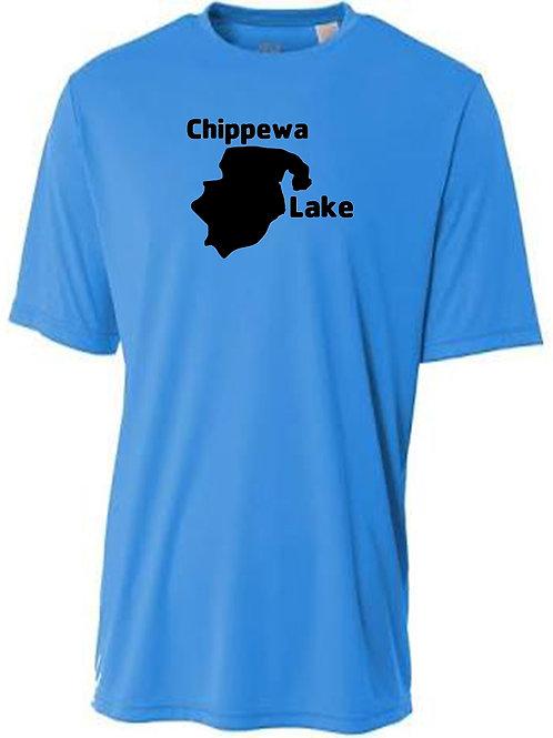 Chippewa Lake Black Logo Sun Tee