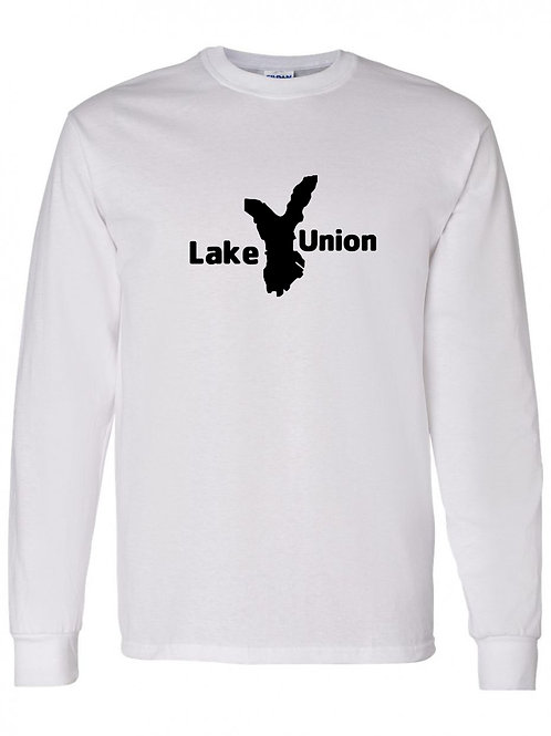 Lake Union Black Logo Long Sleeve