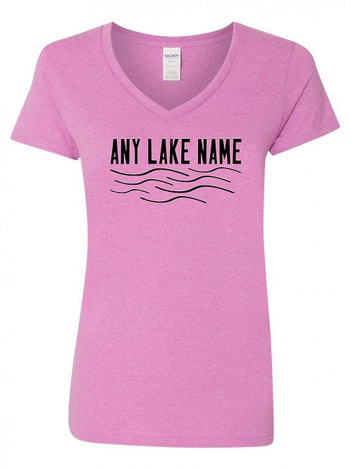 Any Lake Wave Logo V-Neck