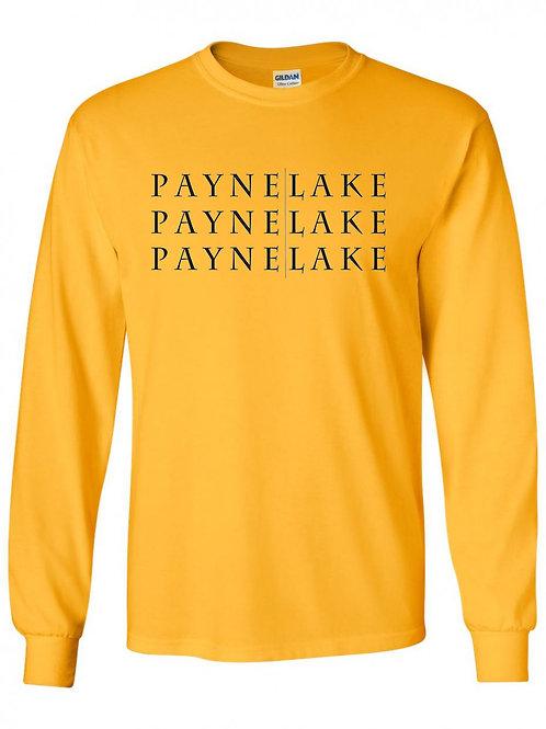 Payne Lake Black Logo Long Sleeve