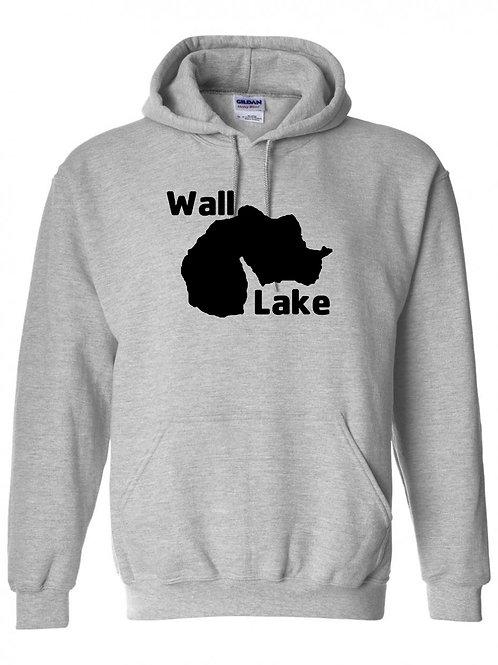 Wall Lake Black Logo Hoodie