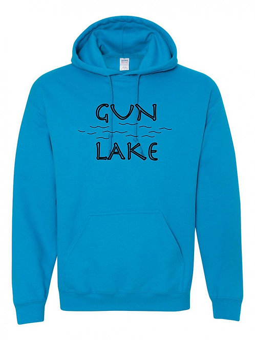 Gun Lake Black Wave Hoodie