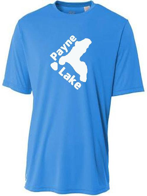 Payne Lake White Logo Sun Tee