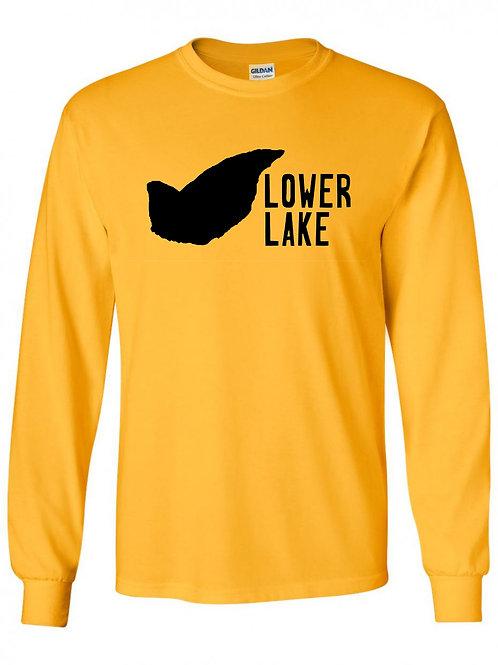 Lower Lake Black Logo Long Sleeve