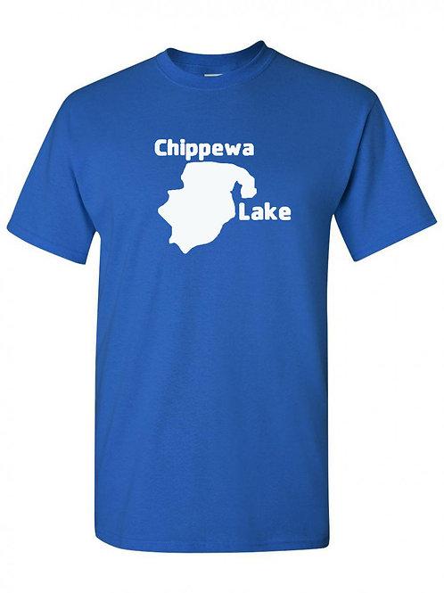 Chippewa Lake White Logo T-Shirt