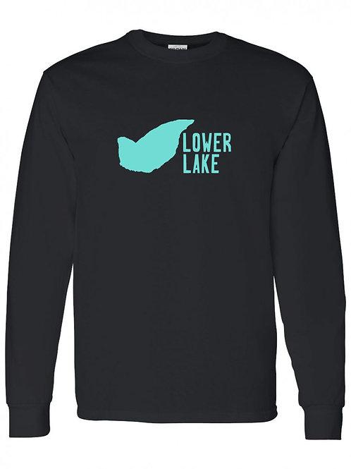 Lower Lake Teal Logo Long Sleeve