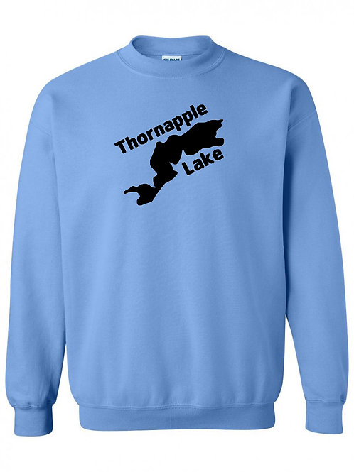 Thornapple Lake Black Logo Crewneck