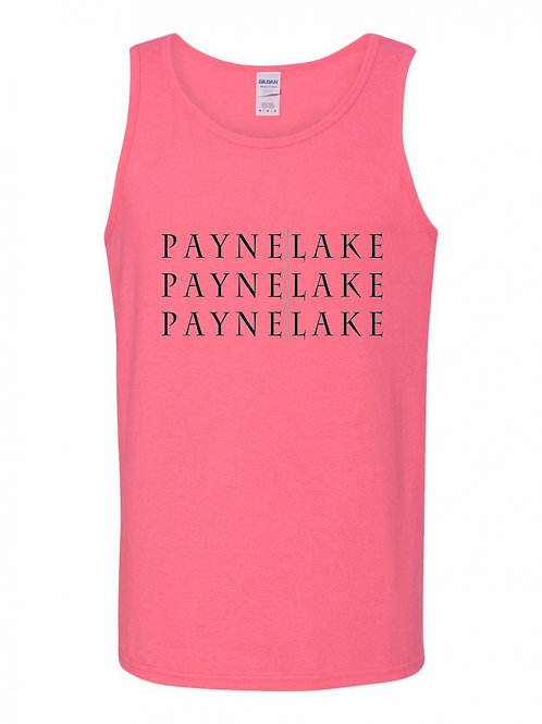 Payne Lake Black Logo Men's Tank Top