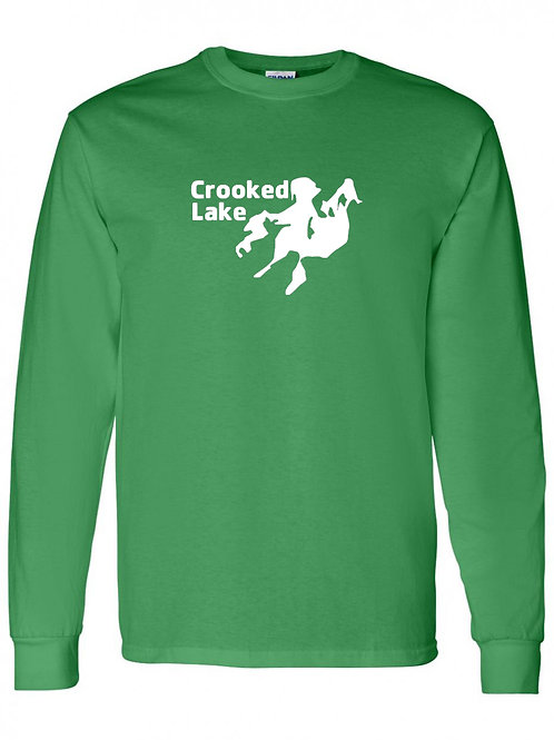 Crooked Lake White Logo Long Sleeve